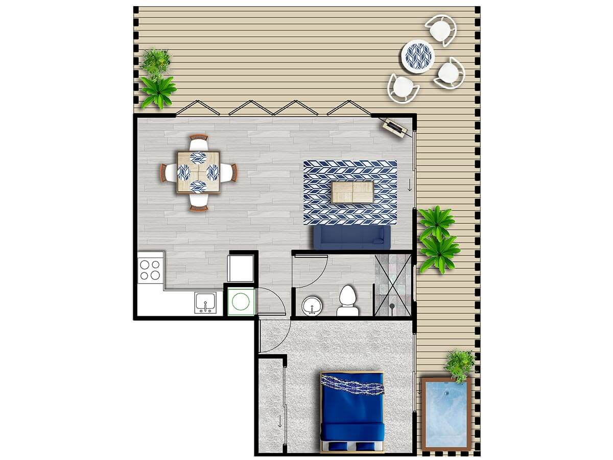 Tiny Houses Floor Plans Gold Coast & Beyond  Funky Little Shack