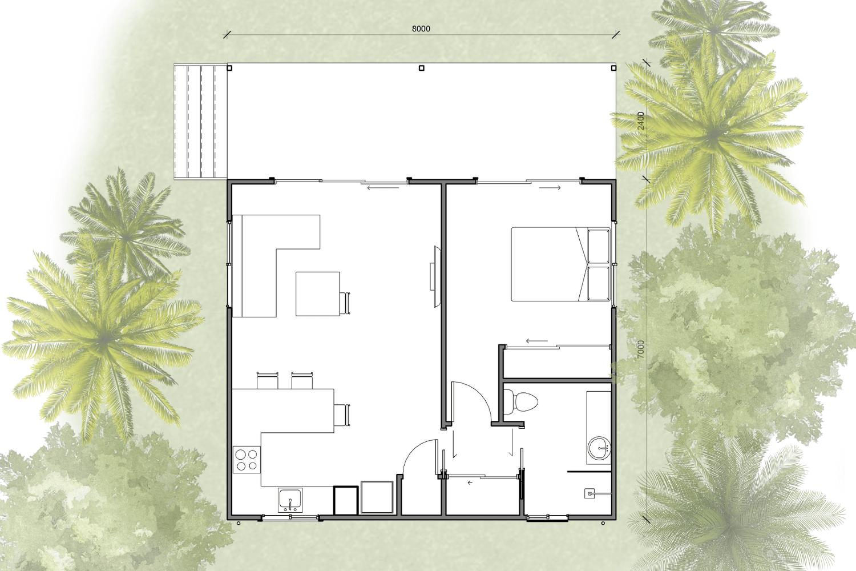 granny flat floor plan
